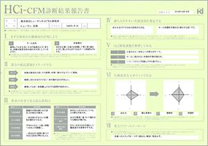 HCi-cfmの診断結果票のサンプル